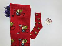Носки Marvel pattern Тор (красные)