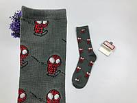 Носки Marvel pattern Человек Паук (темно серые)