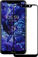 Защитное стекло Walker Full Glue для Nokia 5.1 Plus Черный
