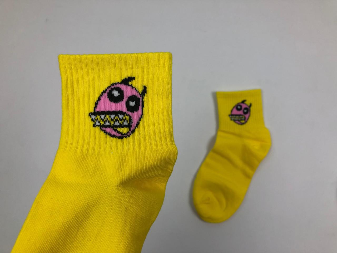 Носки More than dope - средние - Морда (желтые)