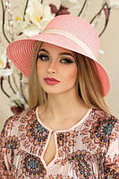 "Летняя женская шляпа ""Тэсса"",розовая, фото 1"
