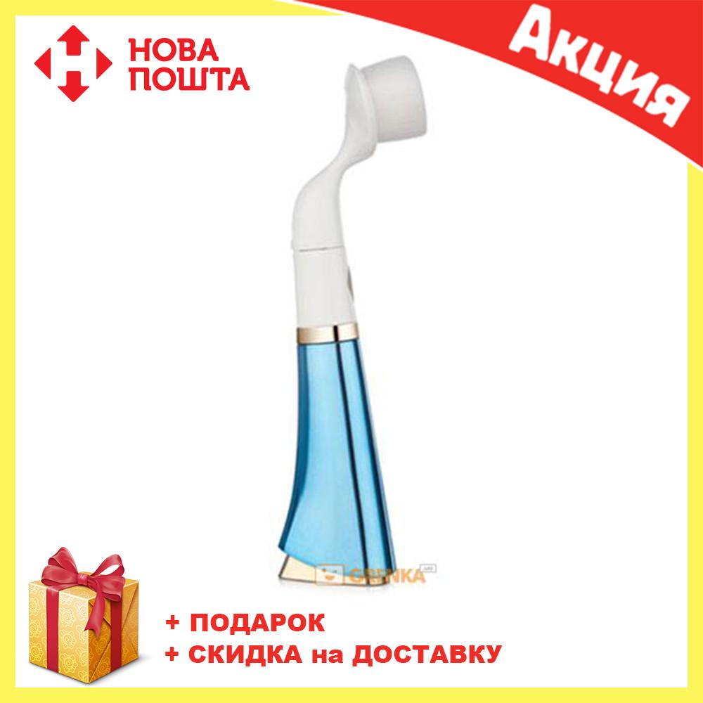 Ультразвуковая щетка для умывания и чистки лица Pobling face cleaner СИНЯЯ