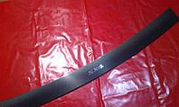 Накладка на задний бампер карбон с загибом для Suzuki SX-4, Сузуки СХ-4