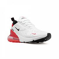Женские кроссовки Nike Air Max 270 White/Red (Реплика)