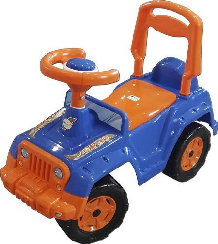 Машинка каталка Сафари синяя 4х4 Орион (549b)