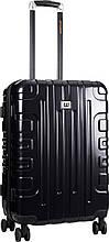 Средний пластиковый чемодан CAT Cityscape 83661;01 черный, 58 л