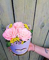 Чудесный цветочный букет из мыла