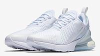 Женские кроссовки Nike Air Max 270 White (Реплика)