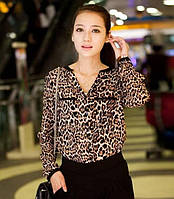 Шифоновая блузка Leo с леопардовым принтом