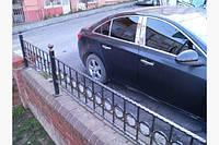 Накладки на центральные стойки дверей Chevrolet Cruze седан 2009+ г.в. Шевролет Круз