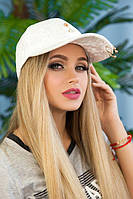 Велюровая женская кепка  «Блэз»,белая