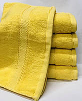 Полотенце 140х70. Цвет жёлтый