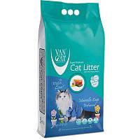Наповнювач Van cat Ван кет бентонітовий грудкуючийся для котячого туалету з Марсельським милом 5 кг