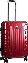 Средний пластиковый чемодан CAT Cityscape 83661;134 красный, 58 л