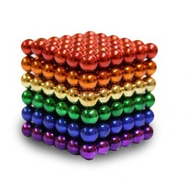 Нео куб Радуга Разноцветный - 6 цветов 5мм Neo Cube