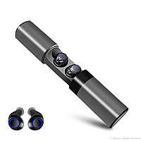 Безпровідні навушники Bluetooth AirTwins S2 TWS з боксом для зарядки Металік