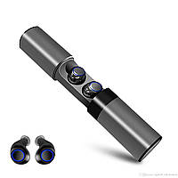 Безпроводные наушники Bluetooth AirTwins S2 TWS с боксом для зарядки Металик