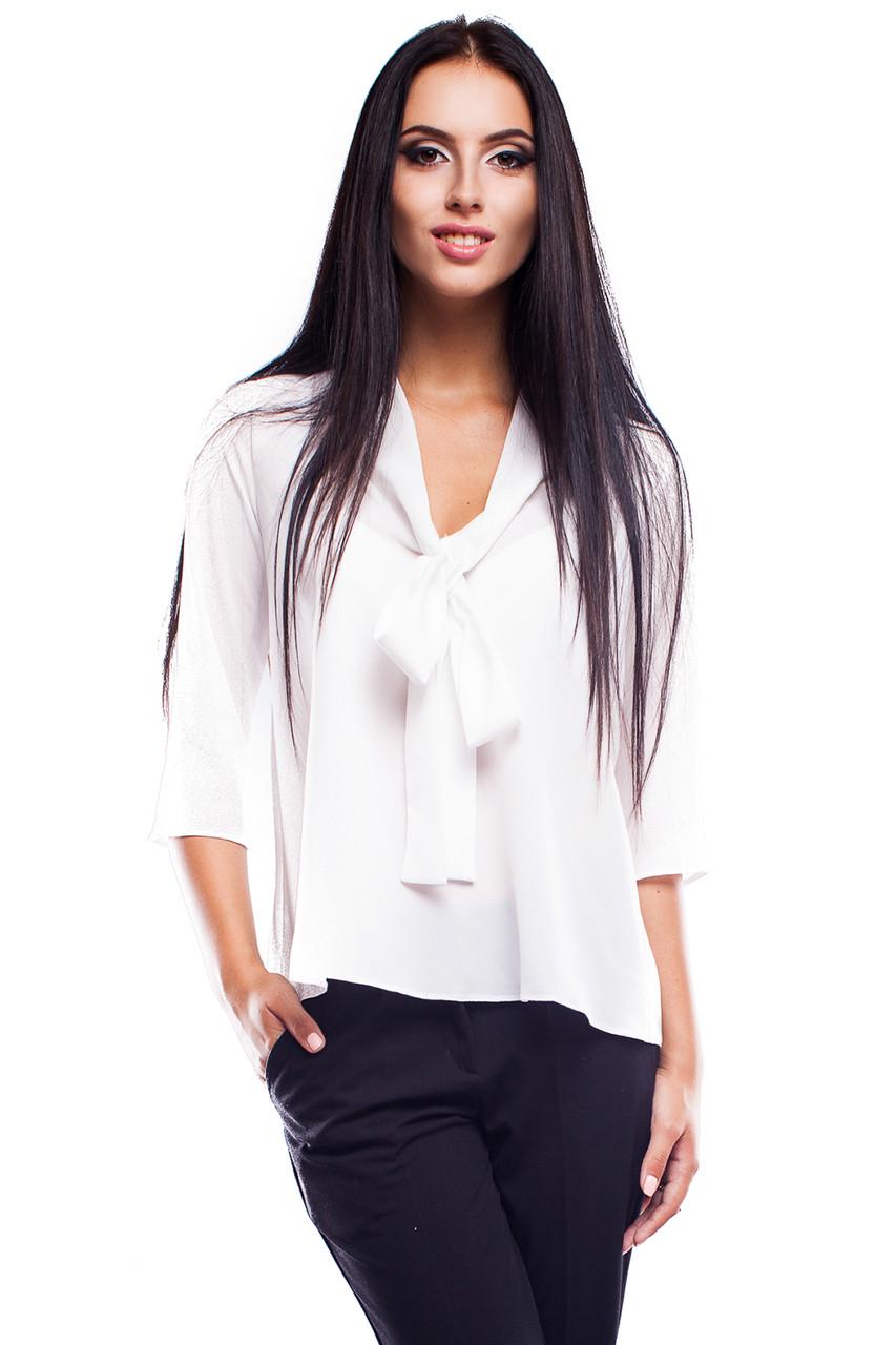 (S, M) Вишукана жіноча біла блузка Avrora