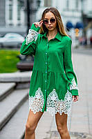 Платье - рубашка / лён / Украина 19-9286, фото 1