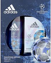 Набір подарунковий Adidas Champions League Champions Edition (лосьйон після гоління 50мл. +дезодорант)