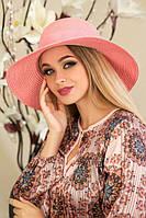 """Летняя женская шляпа """"Кловер""""розовая"""
