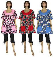 NEW! Практичные женские летние костюмы - комплекты больших размеров - Valentina Batal ТМ УКРТРИКОТАЖ!