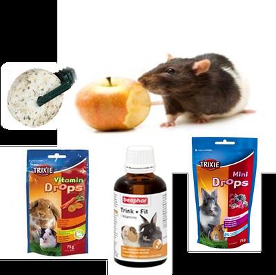 Вітаміни та мінеральні добавки для гризунів