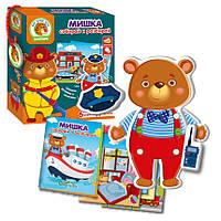 Игра с подвижными деталями Vladi Toys Мишка (Рус) (VT2109-06)
