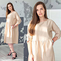 Платье / лен-котон / Украина 44-0143, фото 1