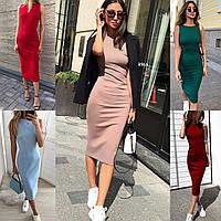45528f1e3df Женское классическое облегающее платье без рукавов 42-44