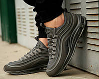 Мужские весенние в стиле кроссовки Nike Air Max 97 (Ultra Gray), серые найк аир макс 97,  Реплика ААА