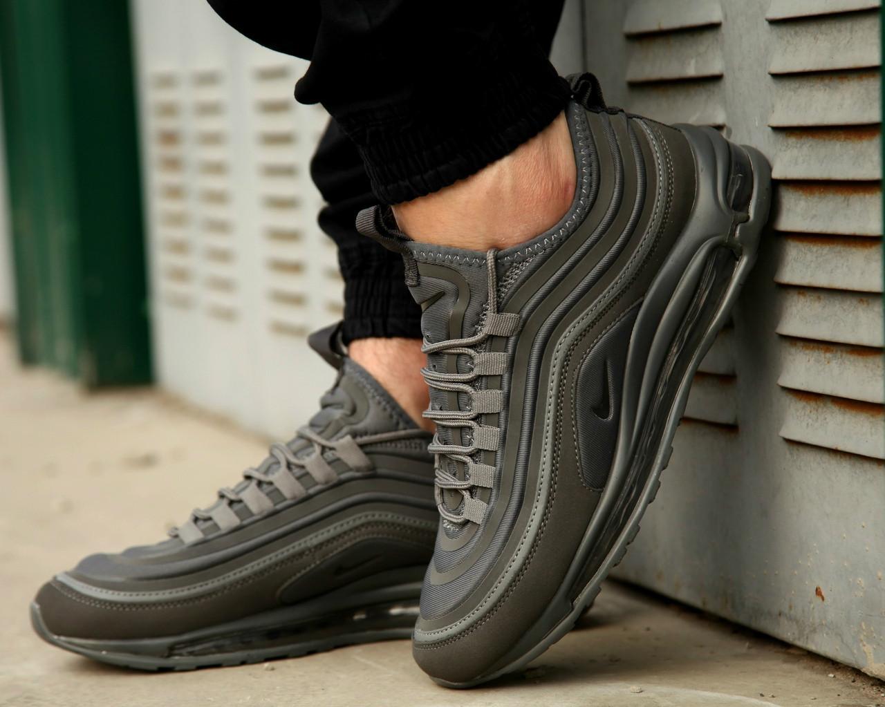 8b790dbe Мужские весенние в стиле кроссовки Nike Air Max 97 (Ultra Gray), серые найк