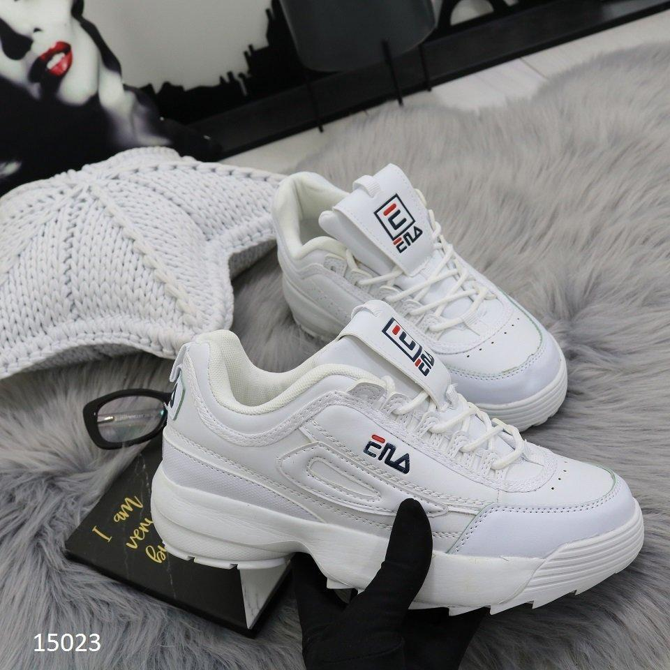 60ba4c2900efc8 Белые женские кроссовки в стиле FILA, кроссовки Фила 40р-26 см - Интернет-