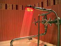 Светящаяся светодиодная насадка на душ LED 3 Color с датчиком температуры, фото 1