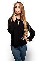 S, M, L / Женская изысканная блузка May, черный