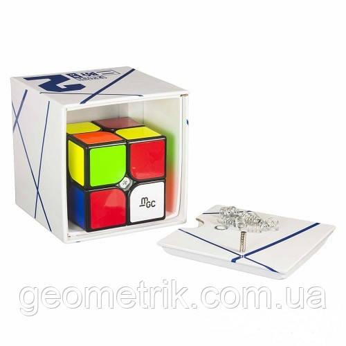 Кубик Рубика 2х2 YJ MoYu MGC Magnetic в коробке (чёрный) (MoYu) (головоломка, игрушка-головоломка)