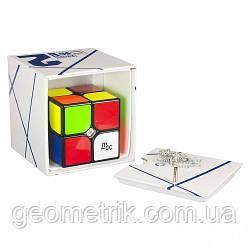 Кубик Рубіка 2х2 YJ MoYu MGC Magnetic в коробці (чорний) (MoYu) (гра, іграшка-головоломка)