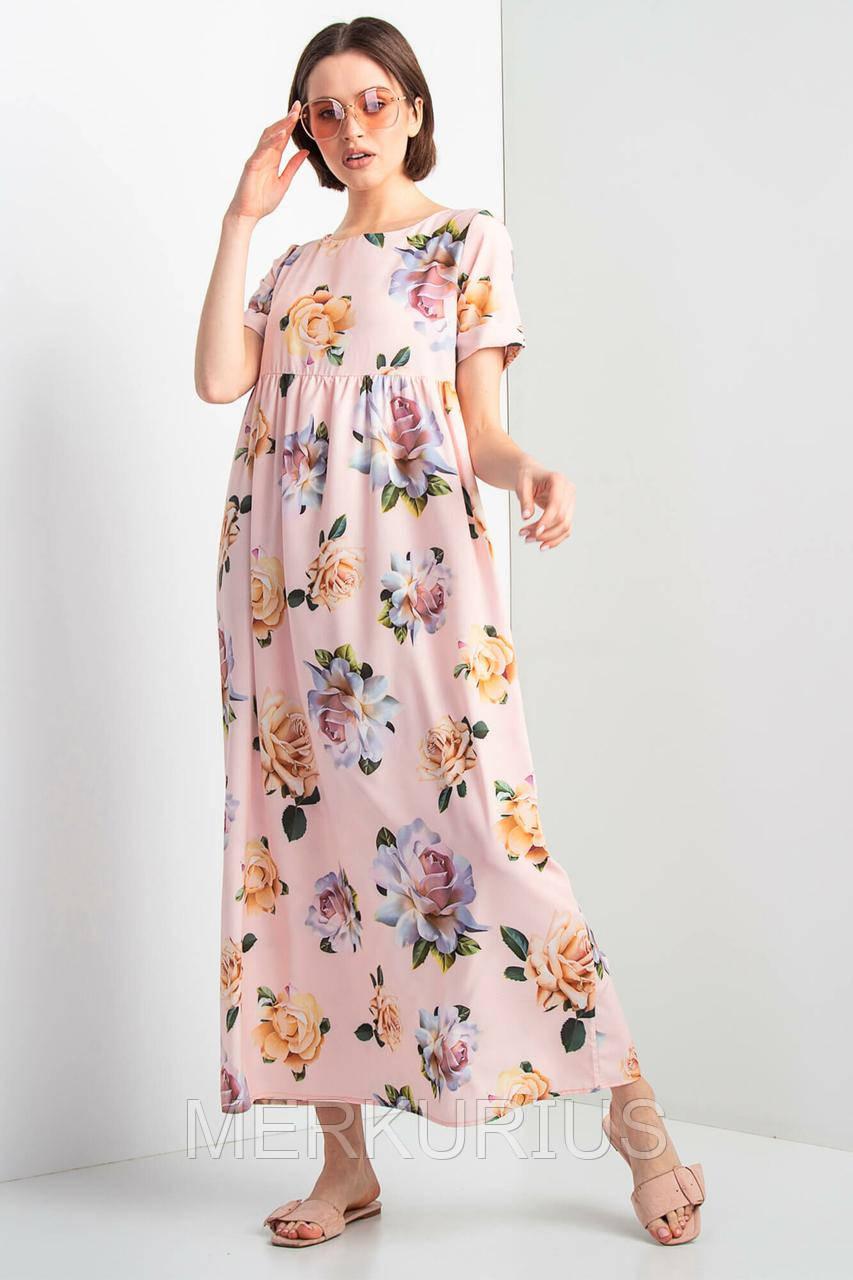 5cbb87e8cd3 Длинное Платье AJSI N в Цветочный Принт — в Категории