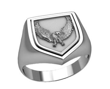 Печатка мужская серебряная Орел