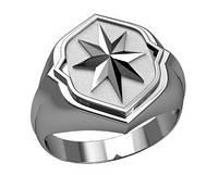 Печатка мужская серебряная Звезда