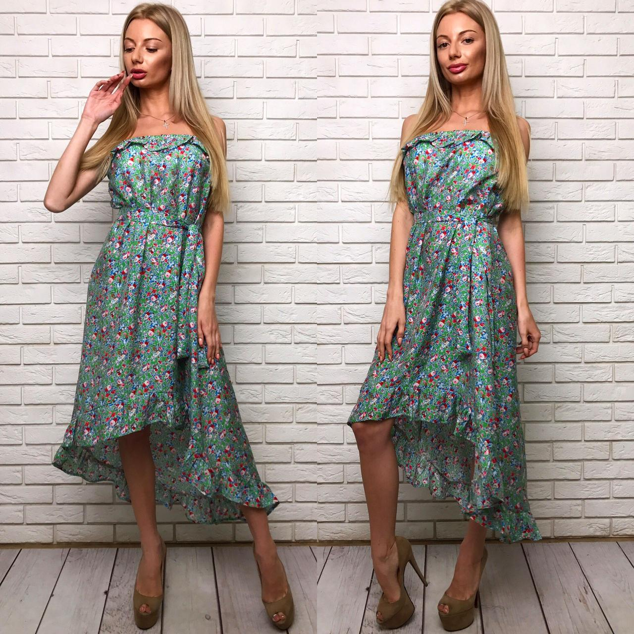 Літнє плаття з відкритими плечима