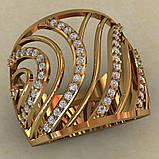 Кольцо  женское серебряное Бриз, фото 2