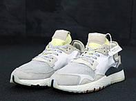 Кроссовки Adidas Nite Jogger (нат. замш, текстиль) реплика ААА+, размер 41-45 серый (живые фото), фото 1