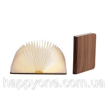 Светильник книга-лампа средний M (орех темный)