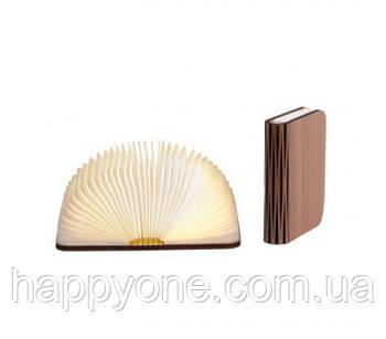Светильник книга-лампа малый S (орех темный)
