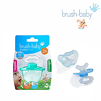 Прорезыватель Brush Baby Front Ease Teether-Teal (от 3 месяцев), фото 1