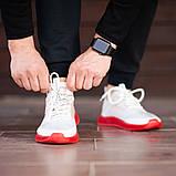 Мужские кроссовки South Sirius WHITE/RED, легкие классические белые кроссовки на лето, фото 3