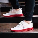 Мужские кроссовки South Sirius WHITE/RED, легкие классические белые кроссовки на лето, фото 5