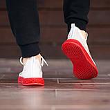 Мужские кроссовки South Sirius WHITE/RED, легкие классические белые кроссовки на лето, фото 7