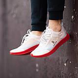 Мужские кроссовки South Sirius WHITE/RED, легкие классические белые кроссовки на лето, фото 2